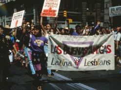 Lesbian pride, NY, 1992